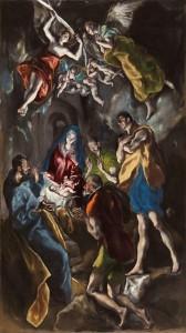 Adoración de los pastores, El Greco. Museo del Prado (Madrid)