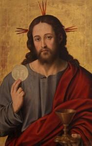 El Salvador con la Eucaristía. Juan de Juanes. Museo del Prado