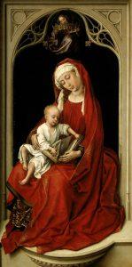 La Virgen con el niño. Rogier van der Weyden (Museo del Prado)