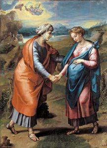 Rafael, Visitación, 1517. Museo del Prado