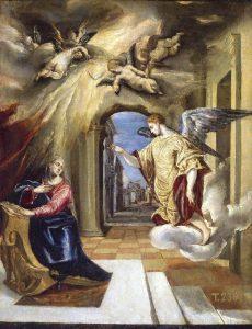 Annunciation El Greco (1570-1575) Museo del Prado