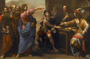 La vocación de san Mateo. Niccolò Tornioli, Museo de Bellas Artes de Rouen (Francia).