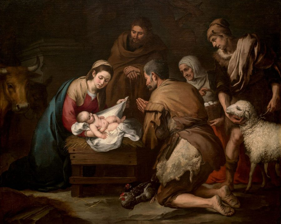 Adoración de los pastores. Bartolmé Esteban Murillo. Museo del Prado