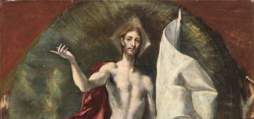 La resurrección de Cristo (detalle). El Greco, Museo del Prado.